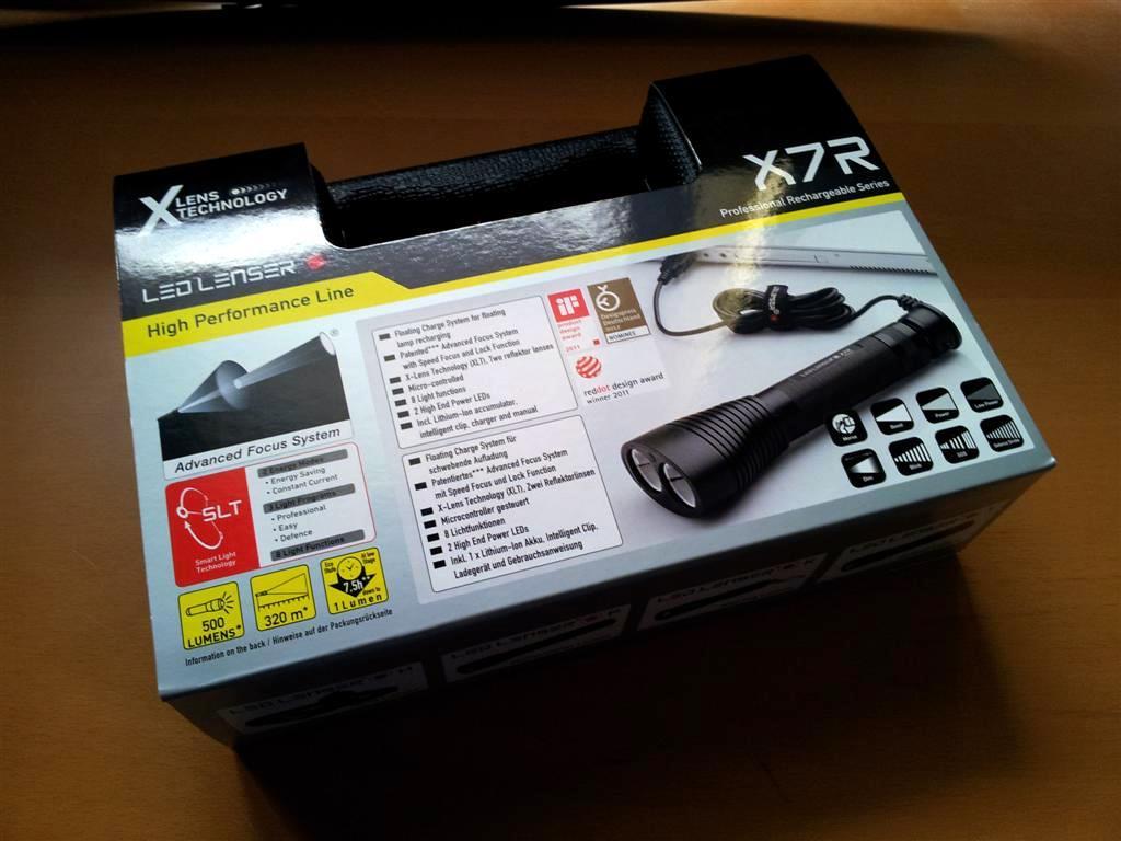 LED LENSER® X7R - Verpackung
