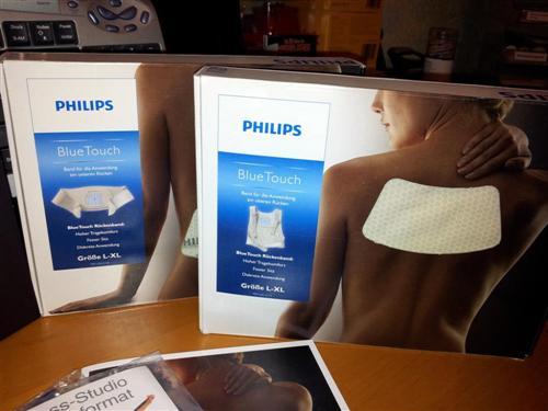 Philips BlueTouch Pain Relief Patch - Haltebänder oben und unten