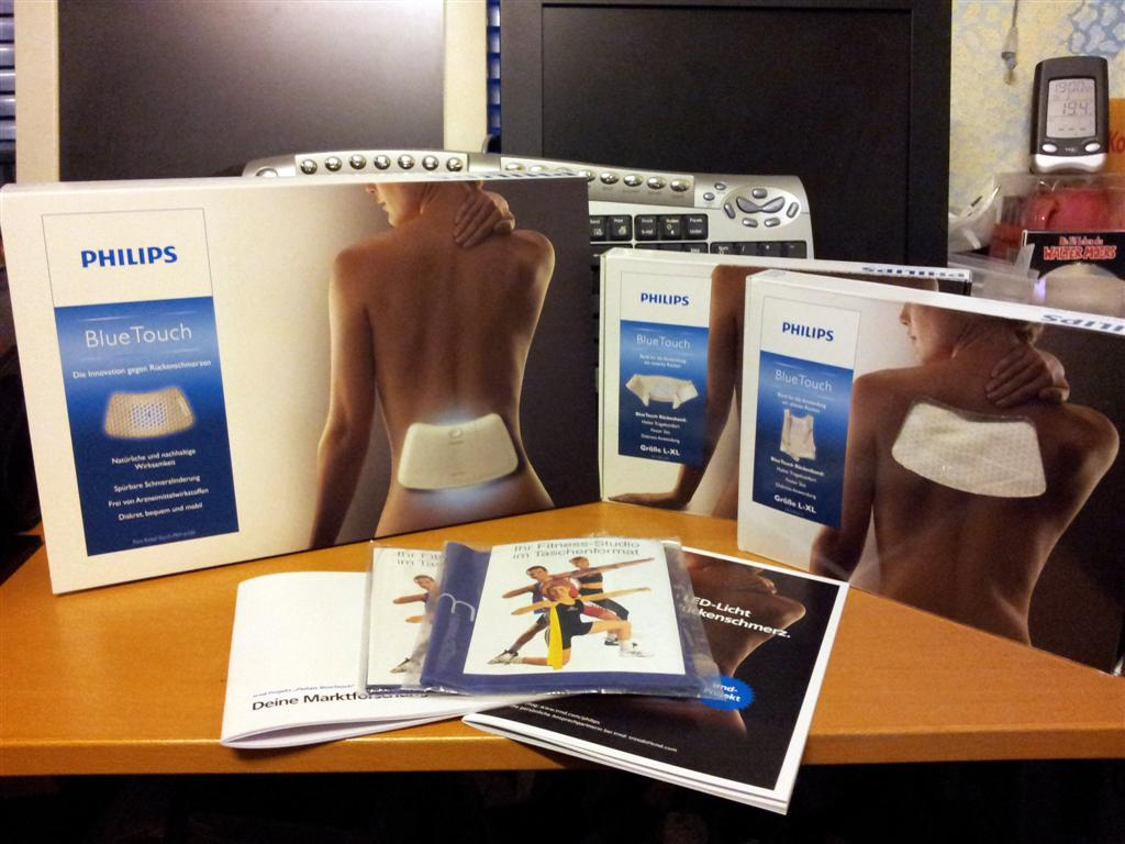 Philips BlueTouch Pain Relief Patch - Lieferumfang Testpaket
