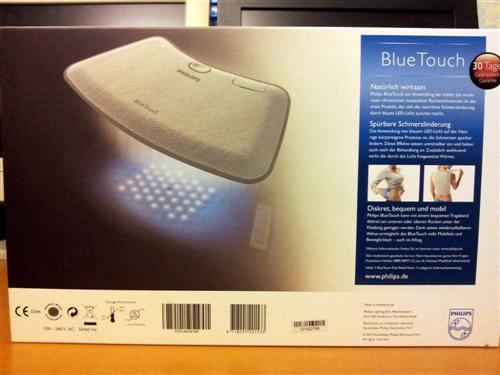 Philips BlueTouch Pain Relief Patch - Rückseite Verpackung