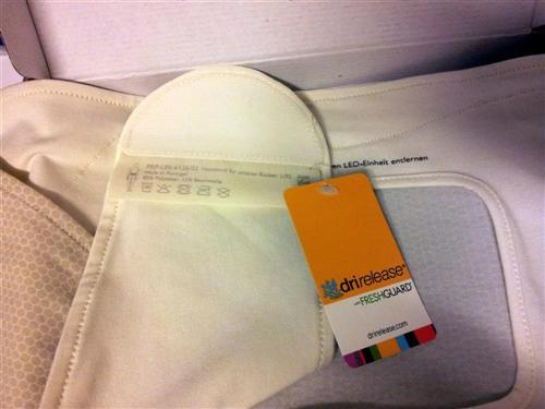 Philips BlueTouch Pain Relief Patch - Halteband unterer Rücken (Detailaufnahme Micro-Klettverschluss)
