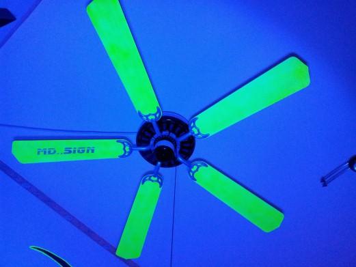 Neon-Effekt Deckenventilator