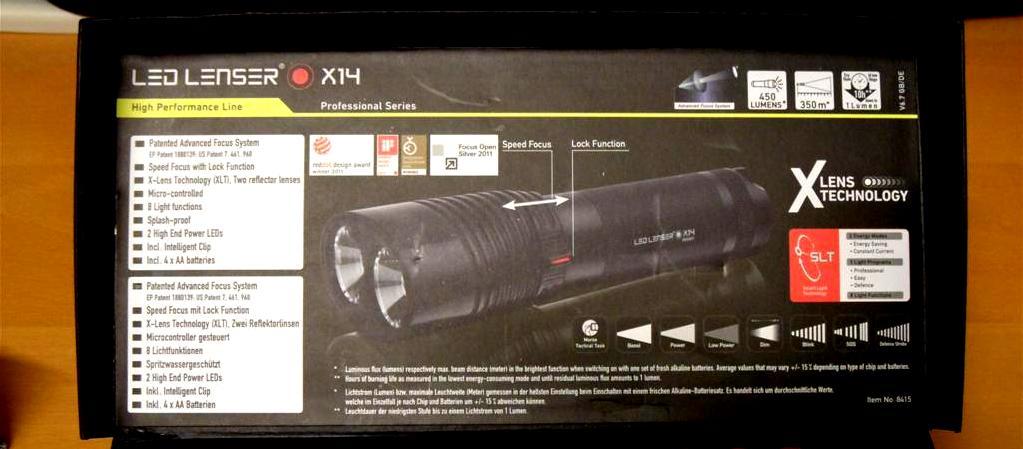 LED LENSER® X14 - Deckel Innenseite